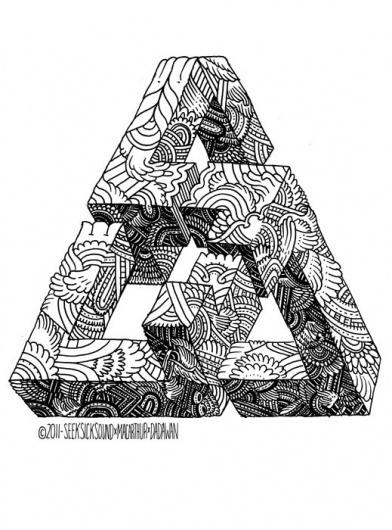 triangle+3.jpg 519×700 pixels #type #illustration