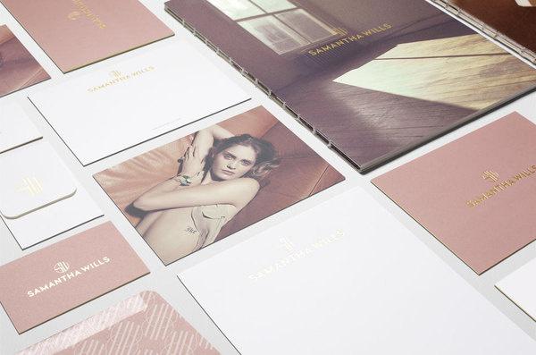 Fabio Ongarato Design Samantha Wills Identity #wills #fabio #identity #collateral #samantha #ongarato