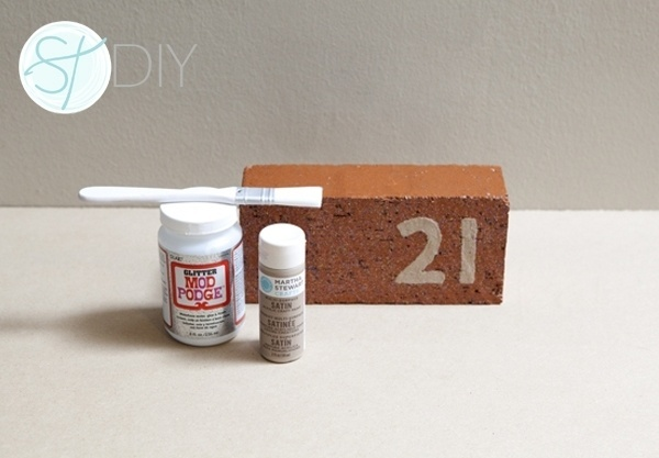 DIY | painted brick table number » Something Turquoise {daily bridal inspiration} #brick