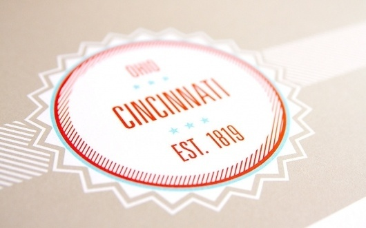 These Are Things / Cincinnati Neighborhoods Map #ohio #neighborhood #letterpress #map #seal #are #logo #cincinnati #things #these