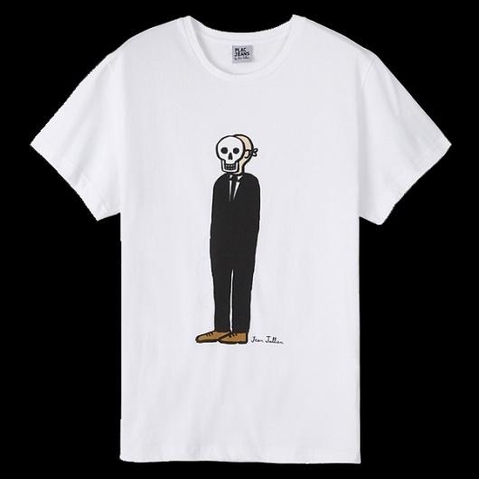 Jean Jullien's online portfolio: PLAC JEANS 2 #illustration #shirt