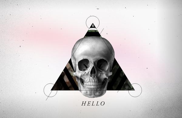 Hello #mario #geometry #logo #skull #mar #cubillos