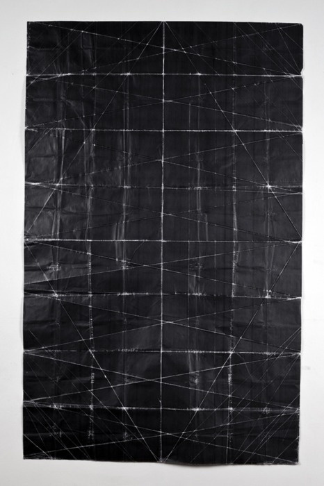 Niall McClellandTapestry - Beaten (2010)toner on paper, folded