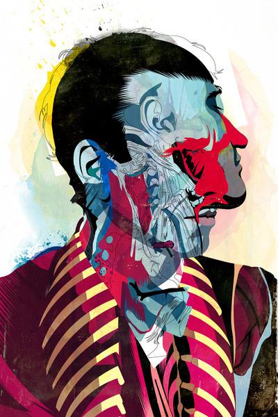 051113 Art Print #abstract #anatomy #illustration #portrait #man #surreal