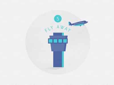 F L Y A W A Y icon #icon #texture #illustration #plane #airport