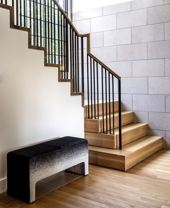 Remodel of Suburban Home in Newton by Hacin + Associates - #stairs, #staircase, #stairway, architecture, stairs