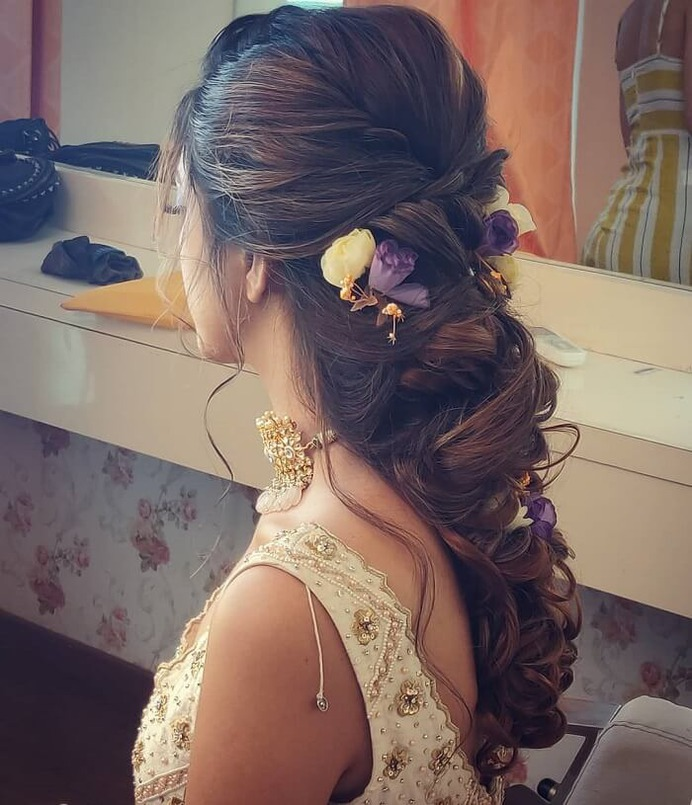 Zigzag Engagement Hairstyle With Accessory