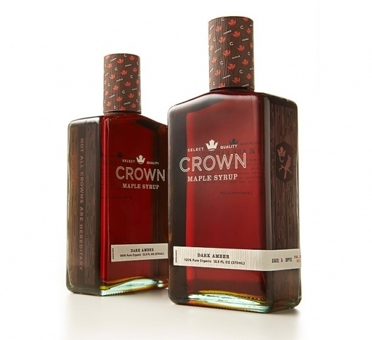Graphic-ExchanGE - a selection of graphic projects - Page2RSS #crown #syrup #bottle #design #maple #package