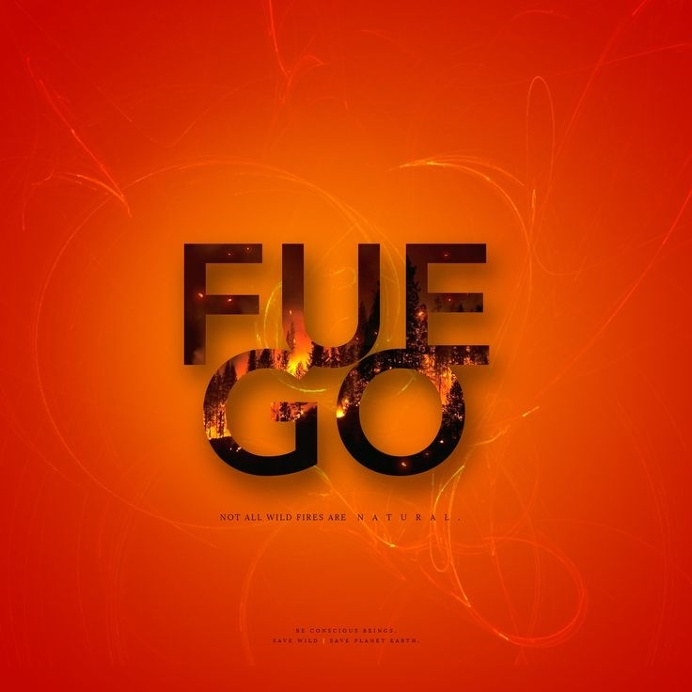 #Design #Experiment #wildfire #nature #fire #earth #orange #concept #yellow #typography