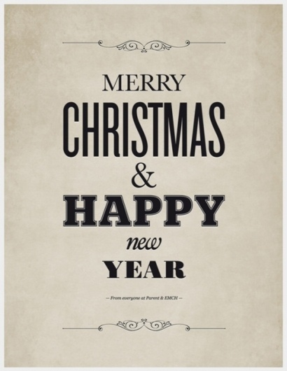 Absurd #christmas #poster #typography