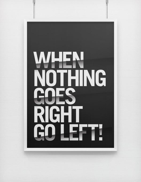 Target'n'Range on Behance #typography #minimal #poster #black