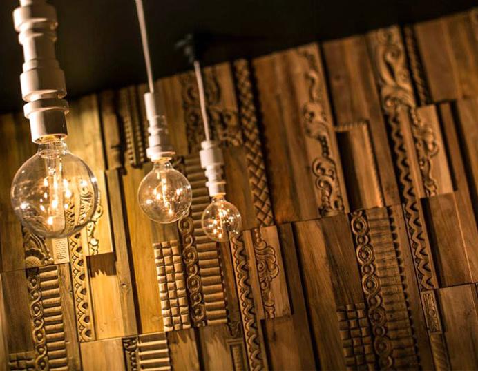 3D Wood cladding by Wonderwall Studios - #design, #decor, #interior,