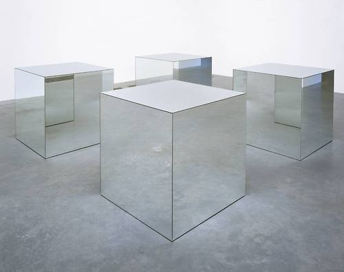 Robert Morris.Untitled.1965/1971.From the Tate Gallery:Morris's Minimalist sculptures of the mid 1960s consist of rigorously pared dow #mirror #space #cube