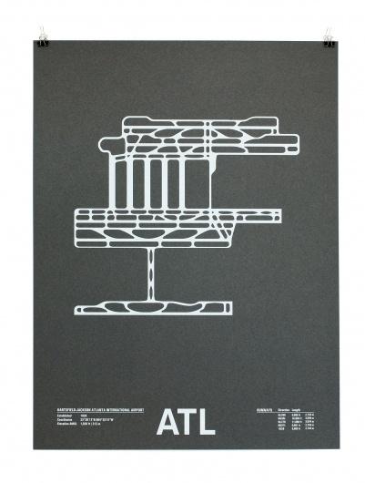Airport Runway Screenprints #poster