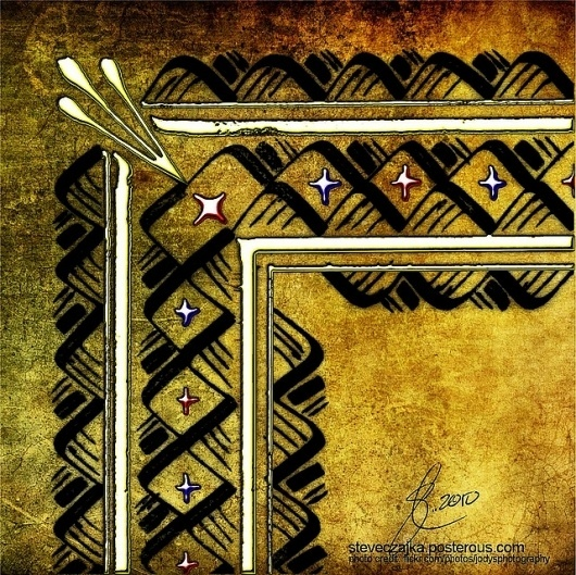 All sizes | Calligraphy Border - Part 5 Illumination | Flickr - Photo Sharing! #calligraphy #frame #manuscripts #burnishing #borders #illuminated #border