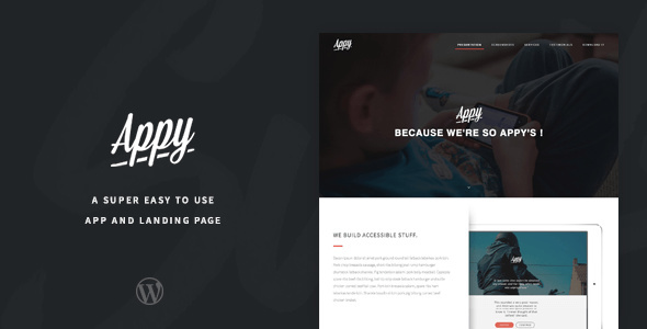 Appy - Mobile App Landing Page WordPress Theme