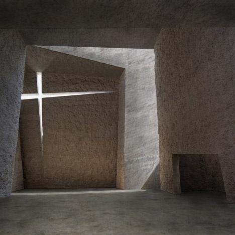 Dezeen architecture and design magazine #interior #cubist #church #architecture #angles