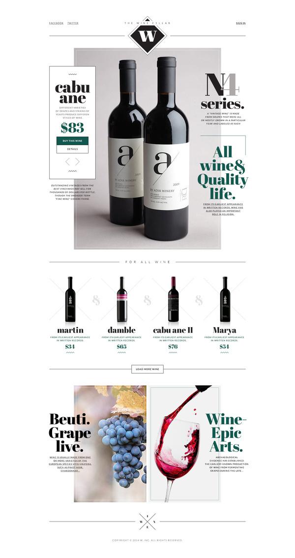 the Wine #white #site #design #wine #black #simple #minimal #art
