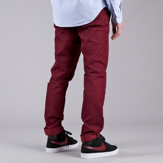 Flatspot - CARHARTT SID PANT CRANBERRY LIGHT STONE WASHED #fashion #product #texture