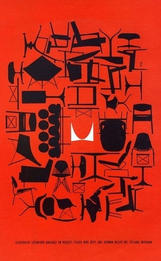 Herman Miller #miller #illustration #figure #furniture #vintage #herman #outline