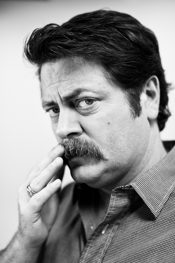 Nick Offerman for Movember #movember #portrait #moustache