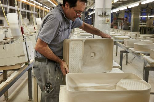 Production at the Laufen factory in Gmunden, Austria. Photo: Chris Rogl