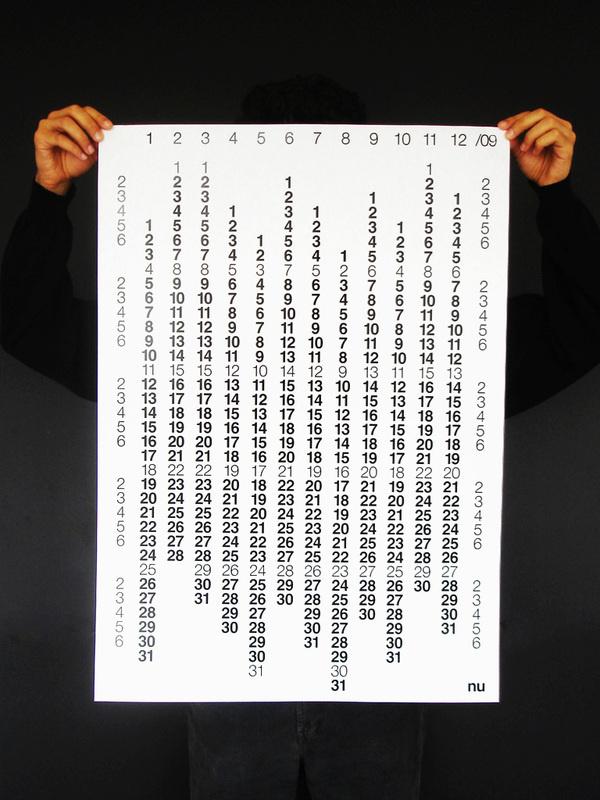 All sizes | Nu 2009 Calendar | Flickr - Photo Sharing! #print #graphic #calendars #design