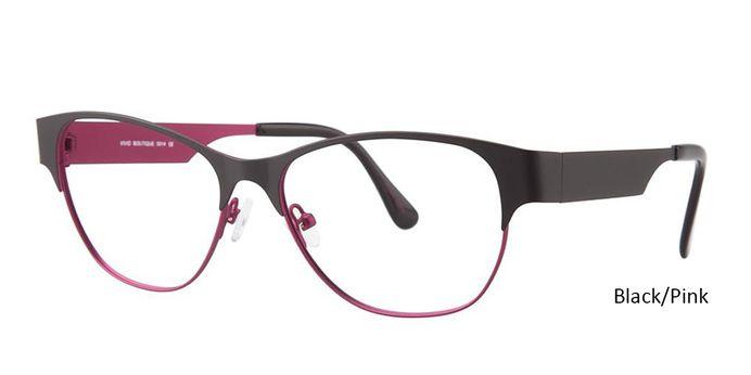 Black/Pink Vivid Eyeglasses Vivid Boutique 5014.