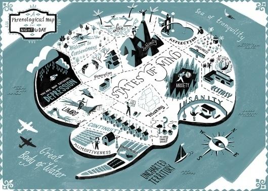Ye Crooked Legge: Night & Day: States of Mind #illustration