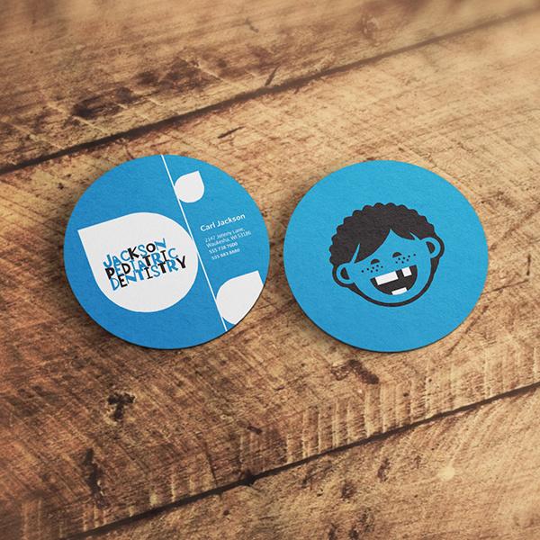 Circle Business Card Design (Blue)