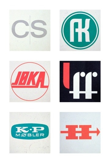 Friday find: Scandinavian logos from the 1960s & 70s #design #1960s #scandinavian #1970s #logo