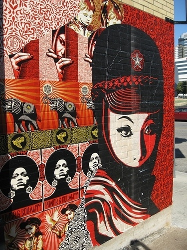 Shepard Fairey hits up Austin for SXSW Festival | Arrested Motion #fairey #illustration #art #street #shepard