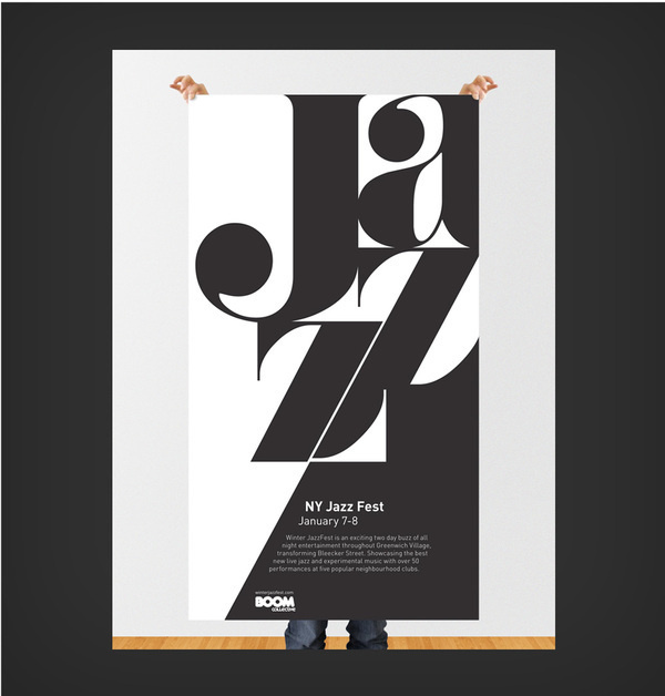 Winter Jazz Festival #jazz #typography #design #graphic #music #poster #york #new