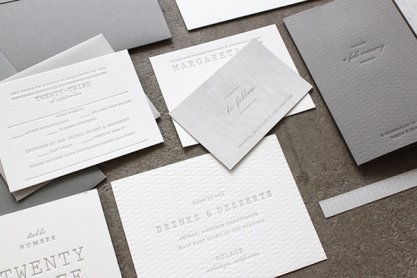 FPO: Margaret & Pat Wedding Materials #letterpress #clean #minimal #stationery #wedding