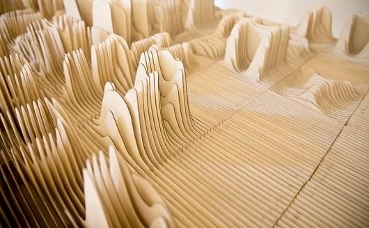 Alphabet Topography #type #topography #wood #typography