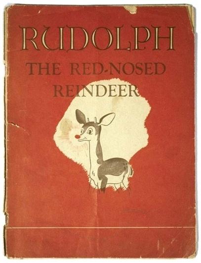 Rudolph the Red-Nosed Reindeer Book.jpg 511×665 pixels #publishing #illustration #vintage #book