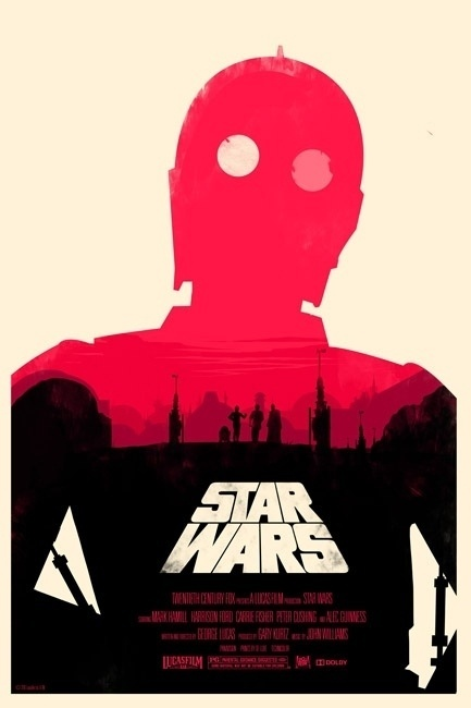 Poster Tributes #wars #star #poster #c3p0 #olly #moss