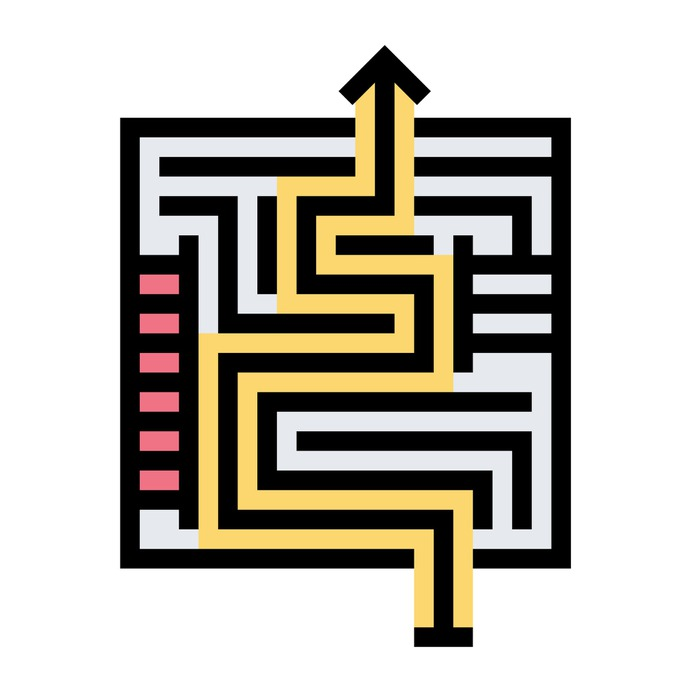 See more icon inspiration related to maze, way, exit, road, business and finance, labyrinth, solution, puzzle and education on Flaticon.