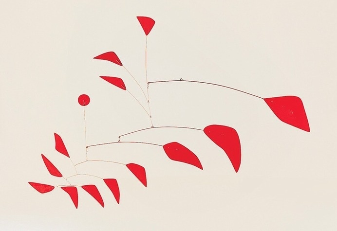 Alexander Calder #abstract #mobile #red