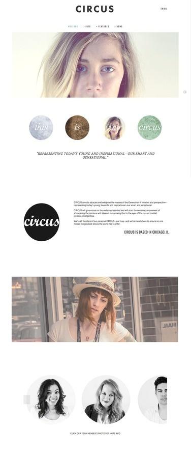 Circus Magazine Web Development by Sarah Gardner #design #minimal #layout #web #editorial #magazine