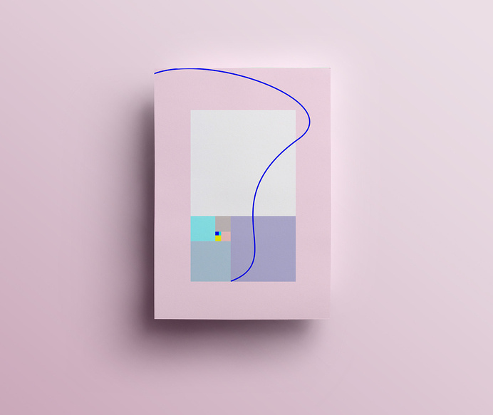 A Geo A day by Isabella ConticelloGeometry a day is a personal project by Isabella Conticello, a 26 year old graphic designer and illustrato #phi #geometry #ratio #pink #design #golden