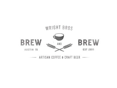 Dribbble - Wright Brothers work in progress by Justin David Cox #coffee #logo #vintage #typography