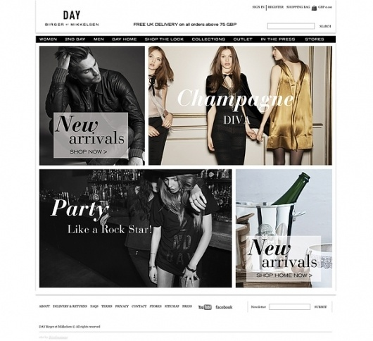 DAY Birger et Mikkelsen — AW10/11 Website on Web Design Served #white #design #black #grid #and #web