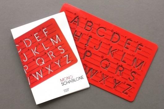 Mono Schablone | ALEX KETZER #booklet #poster #typography