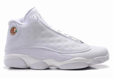 Heads Up : Nike Jordan 13 Basketball Shoes with All White for Men ...