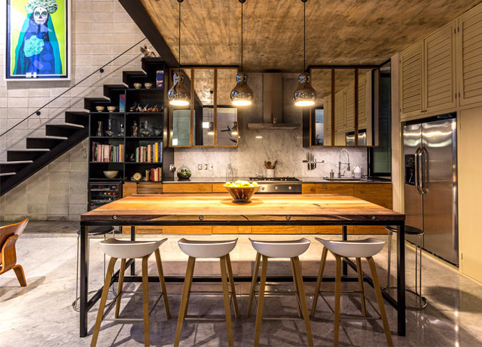 best kitchens modern mexican house located images on designspiration