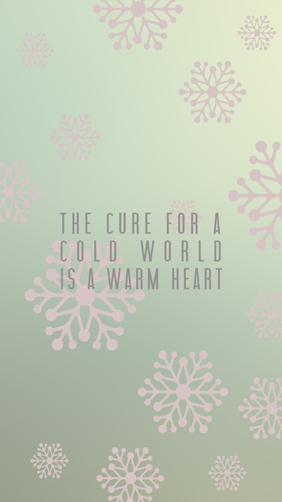 Warm Hearts poster. #print #design #graphic #poster #layout #winter