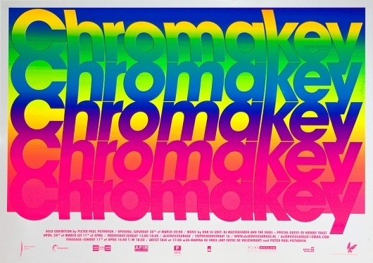 CHROMAKEY - www.michielschuurman.com #design #poster #typography