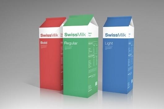 Swiss milk by Arantxa Reus #packaging #milk #design #swiss