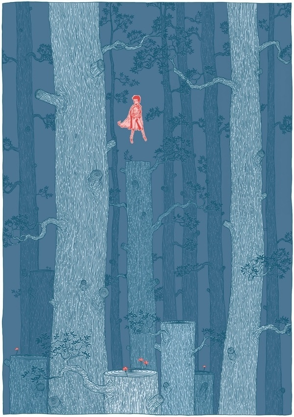 Something in the forest on the Behance Network #illustartion